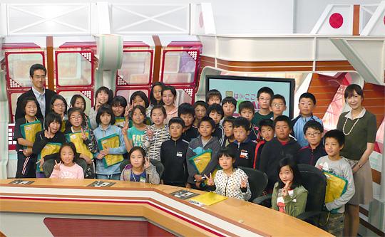 弘前市立時敏小学校5年2組のみなさん
