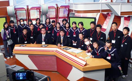 横浜町立横浜中学校 1年B組の皆さん